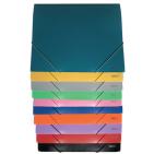 Mapa plastic cu elastic A4 Daco 35mm - diferite culori