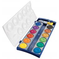 Acuarele pastile Pelikan K12 12 culori + tub alb