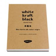 Bloc hartie A5 alba-natur-neagra Daco
