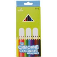 creioane colorate Ecada 12 culori