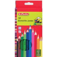 Creioane colorate groase Herlitz Jumbo 10 culori