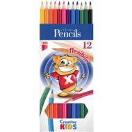 Creioane colorate Ico Flexible 12 culori