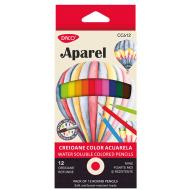 Creioane colorate acuarela Daco 12 culori