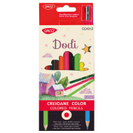 Creioane colorate Dodi Daco 12 culori 2 duritati