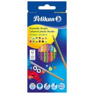 Creioane colorate Pelikan Bicolor 12 creioane 24 culori