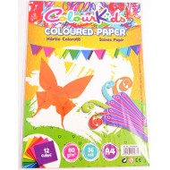 Hartie colorata asortata A4 80g 12 culori 36 coli