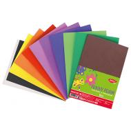 Hartie gumata Uni Daco 10 coli - diferite culori