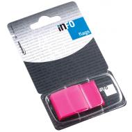 Index autoadeziv cu dispenser Info Flags 43x25mm  - roz