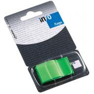 Index autoadeziv cu dispenser Info Flags 43x25mm  - verde