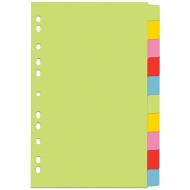 Index din carton 10 culori set