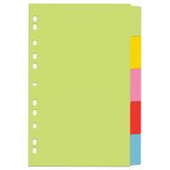 Index din carton 5 culori set