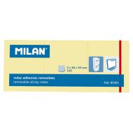 Notes autoadeziv 3 x 38 x 50 galben pal Milan