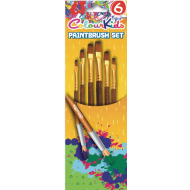 Pensule scolare 6/set vf tesit nr.2/4/6/8/10/12 ColourKids