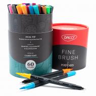 Pix liner si pensula Daco Liner Fine Brush 60 culori PX560