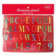 Sablon desen Alfabet Daco