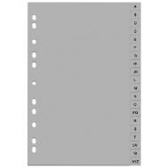 Separatoare index din plastic - litere A-Z