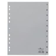 Separatoare index din plastic cifre 1-10