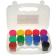 Acuarele tempera cu sclipci Glittera Daco 12 culori