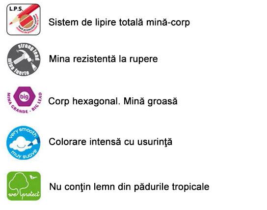 Creioane colorate groase Milan Maxi - magazinbirotica.ro